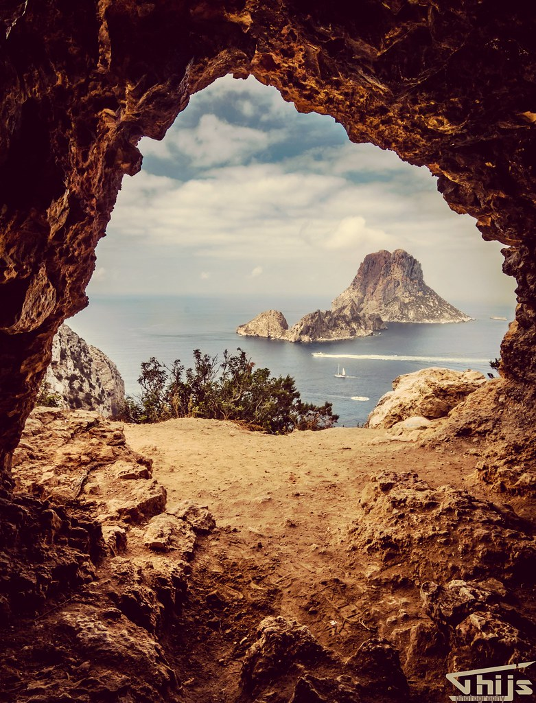 Hippie Cave with beautiful view on Es Vedra Ibiza by Thijs de Groot