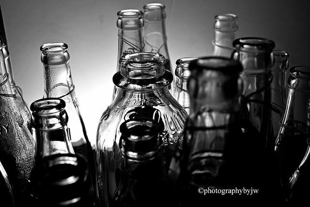 Bottles in Black and White