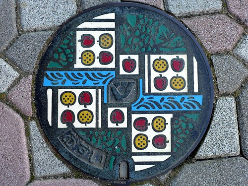 Matsukawa Nagano, manhole cover (長野県松川町のマンホール)
