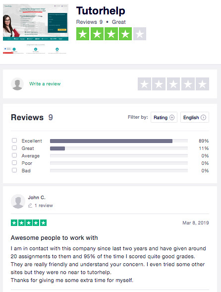 tutorhelp reviews