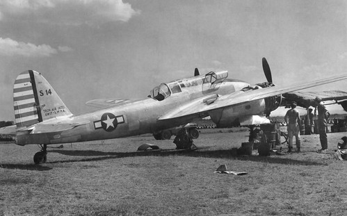 captured Japanese Kawasaki Ki-45 Toryu  at the Clark Field airfield 1945.