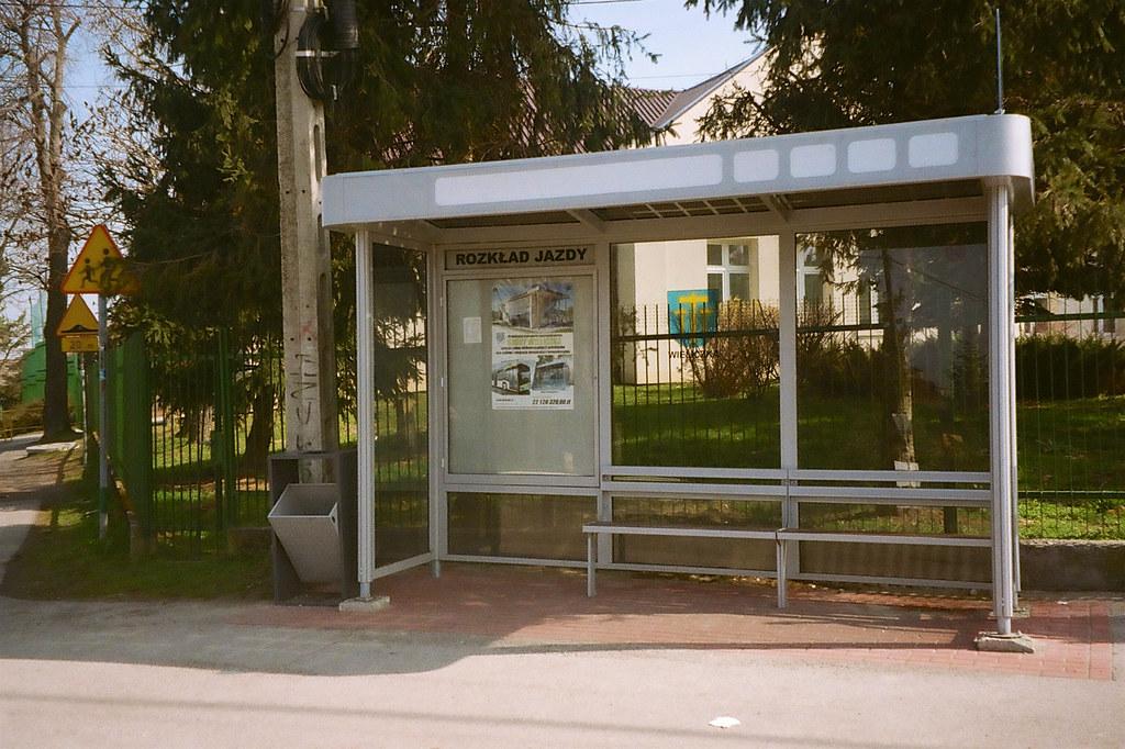 Przystanek w Janowicach / Janowice bus stop