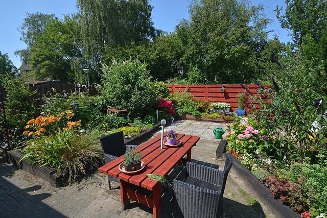 In a Dutch country garden.....