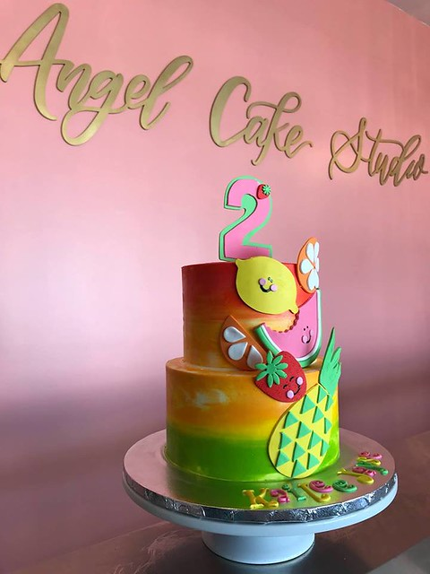 Tropical Fruity Cake by Angel Cakes