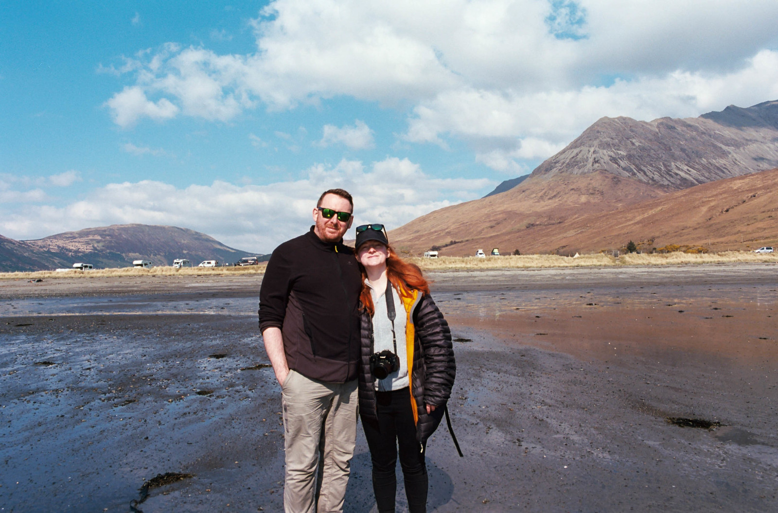 Us at Glenbrittle Beach, Isle of Skye.