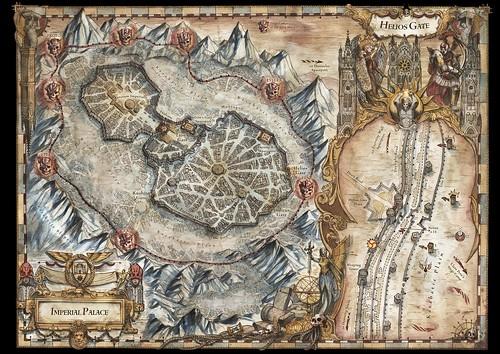 «Осада Терры: Заблудшие и проклятые», карта-иллюстрация | The Siege of Terra: The Lost and the Damned, map artwork