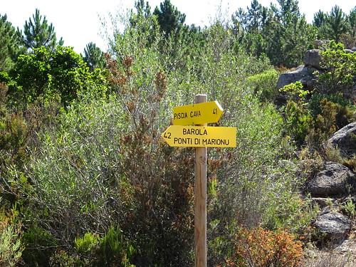 Panneaux 41/42 à l'extrémité de la piste de Barola