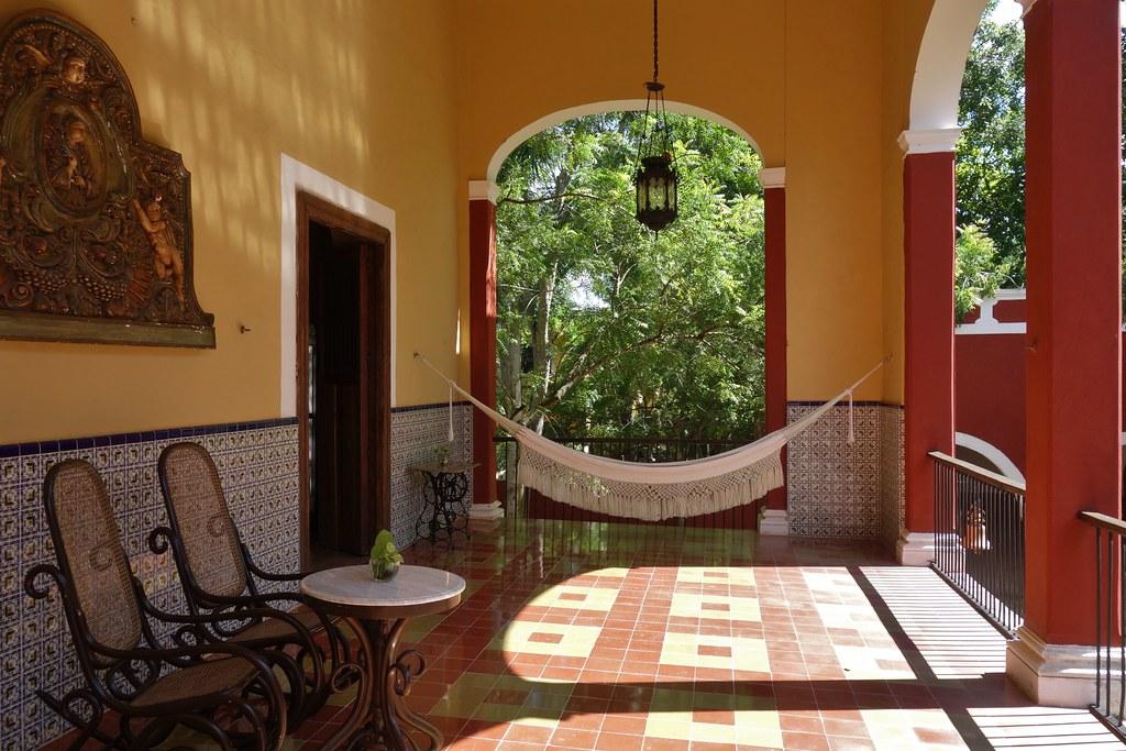 MEXIKO, Yucatán , Hacienda Sotuta de Peón, Sisalplantage,  Veranda,  19090/11750