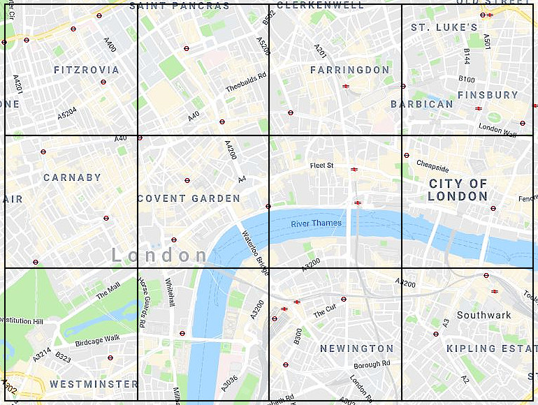 London Landmarks Map.Central London Landmarks On A Map Quiz By Hellofromuk
