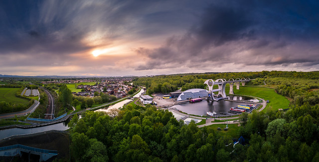 Sunrise at Falkirk Wheel