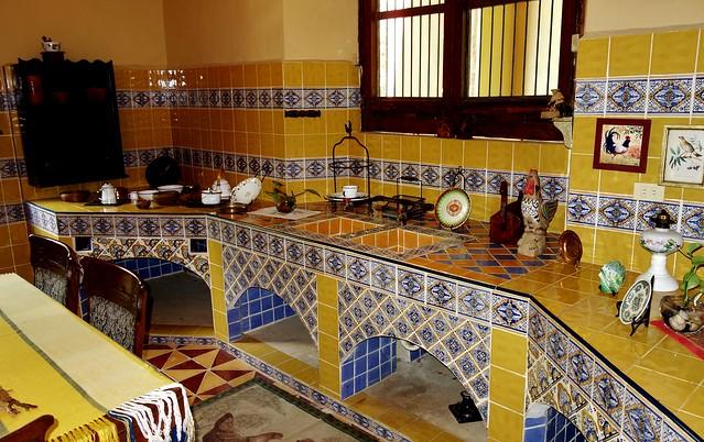 MEXIKO, Yucatán , Hacienda Sotuta de Peón, Sisalplantage,  Küche,  19091