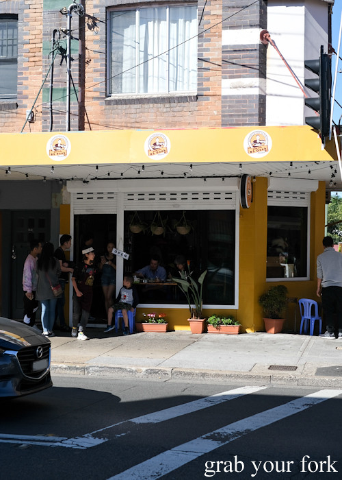 Entrance to Banh Cuon Ba Oanh in Marrickville Sydney