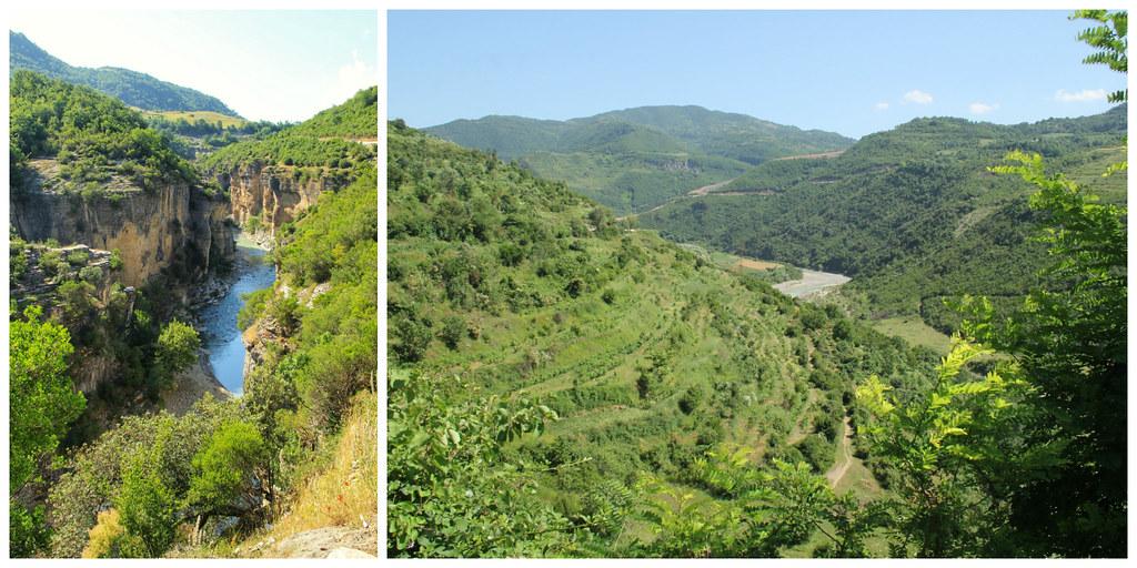 Canyons and mountain scenery, Albania