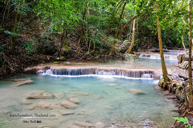 2019 Thailand Kanchanaburi Water Falls