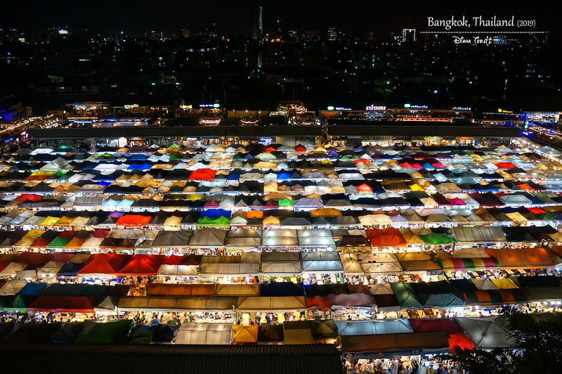 2019 Thailand Bangkok Ratchada Rot Fai Train Night Market 1