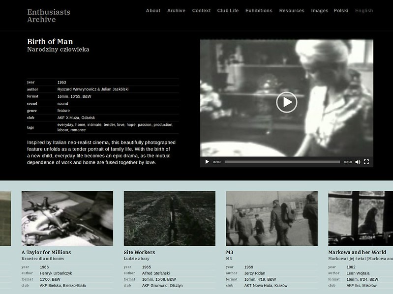 Enthusiasts Archive design
