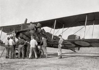 Breguet 14A2 Reconnaissance Aircraft  in France during WWI.
