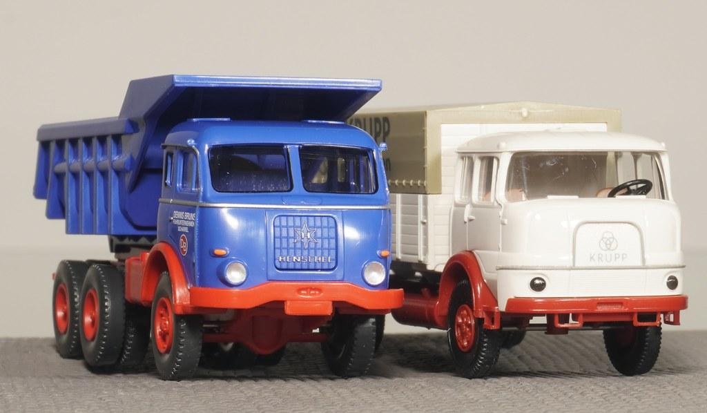WIKING Henschel HS 3-180 und BREKINA Krupp Cummins V8