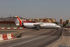 G-JOTS JOTA Aviation British Aerospace Avro RJ100 coming in from Southend (SEN) due to the Island Games 2019 @ Gibraltar (GIB/LXGB) / 13.07.2019 - Runway18.de