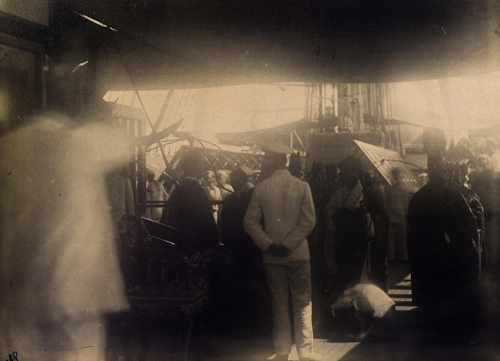 19. 1891. Прием на палубе фрегата «Память Азова». Сиам.