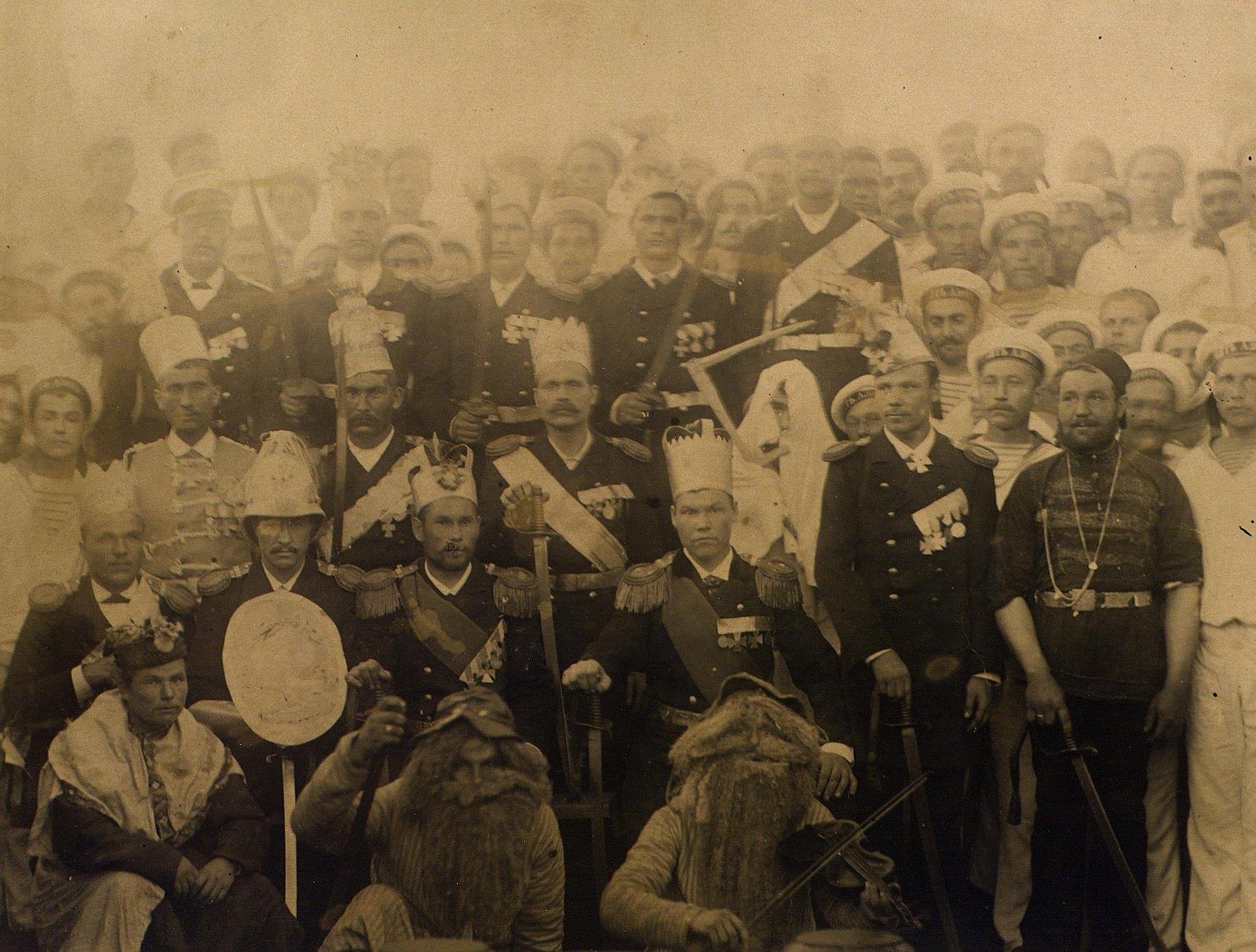 11. 1890. Цейлон. Празднование Рождества на фрегате  «Память Азова»