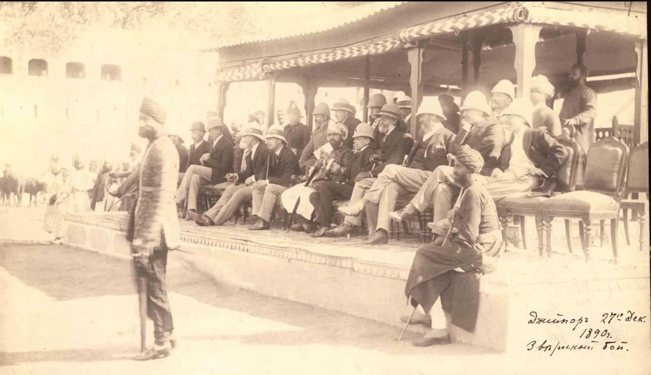 09. 1890. Индия. Джайпур. Звериный бой