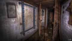 Casemate XIII hallway with rifle rack