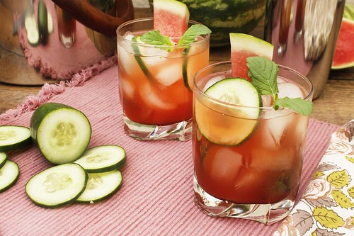 watermelon, cucumber mojitos-FFTY