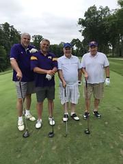 TPC Deere Run Silvis, IL  L-r: Bruce McCance, Mike Faivre '81, Michael Hanrahan '81 and Daniel Callahan '82