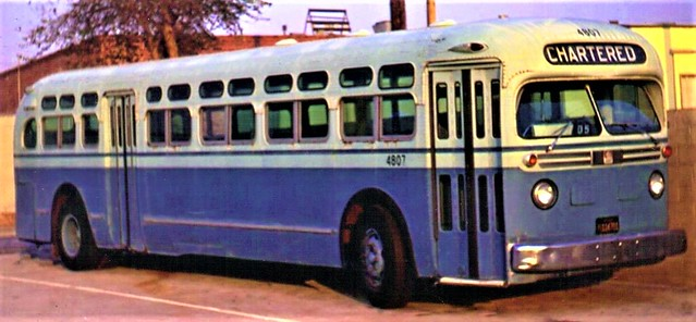 Vintage GM Salid Bowl design from the 1950's on the lot at Santa Monica Municipal Blue Bus Line