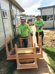 Hawaiian Electric at Kahauiki Village — July 13, 2019: Volunteers worked in pairs for safety and efficiency.