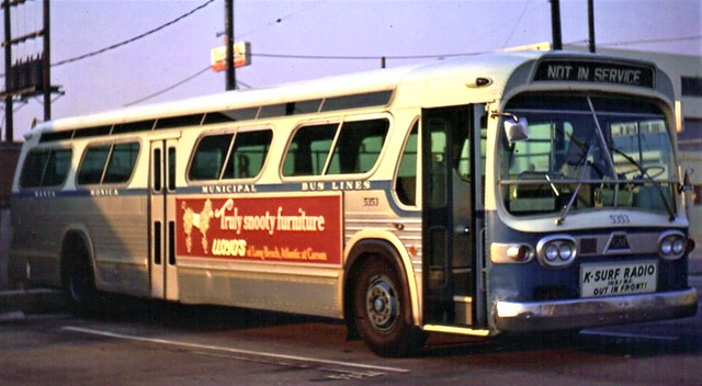 Santa Monica Municipal Bus Lines GM transit bus from the old days