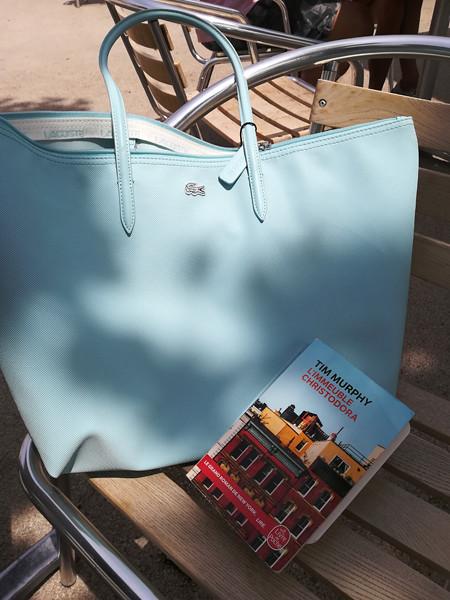 sac à main bleu lacoste