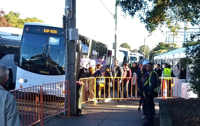 Peak hour bustitution at Caulfield