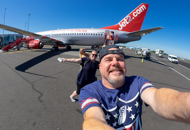 Selfie with the airplane.