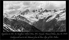 Mt. Adamant and the Adamant Glacier from below Mt. Palmer: Howard Palmer, July 18,  1909