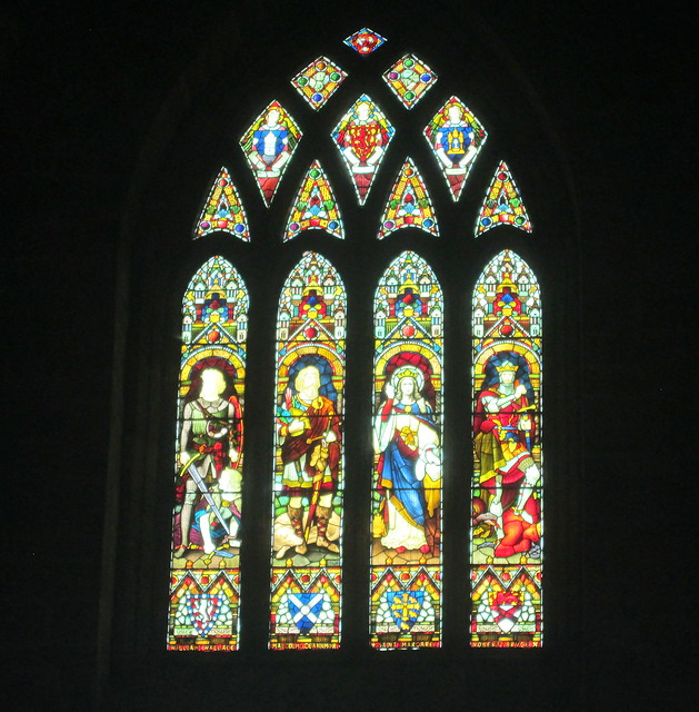 Stained Glass, Dunfermline Abbey nave, Fife