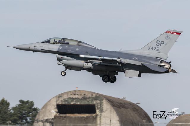 91-0472 United States Air Force Lockheed Martin F-16DM Fighting Falcon