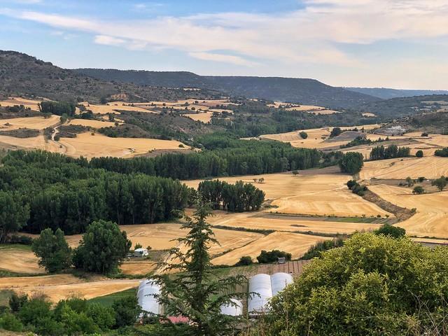 Valle del Tajuña desde el castillo de la Peña Bermeja en Brihuega