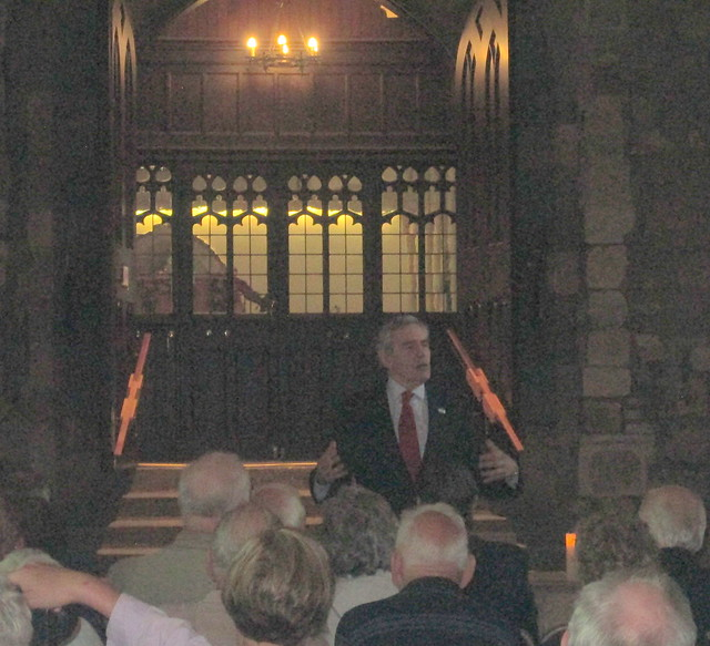 Gordon Brown, Dunfermline Abbey,
