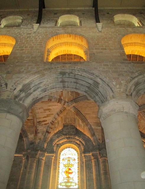 Dunfermline Abbey nave, upper storeys