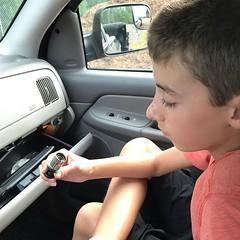 """Dad, what is this?"" #truestory #farmkids"