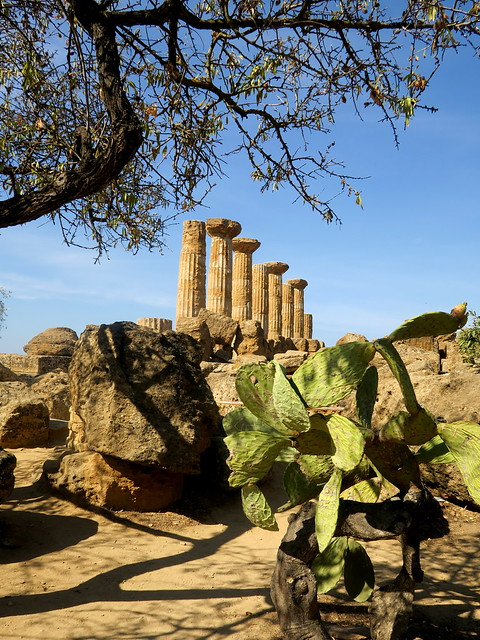 Sicily, Agrigento, Valle dei Templi, temple of Heracles, 6th century BC