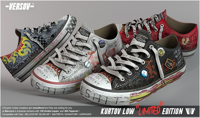 [ Versov // ] Kurtov LOW LIMITED EDITION sneakers available at MAN CAVE