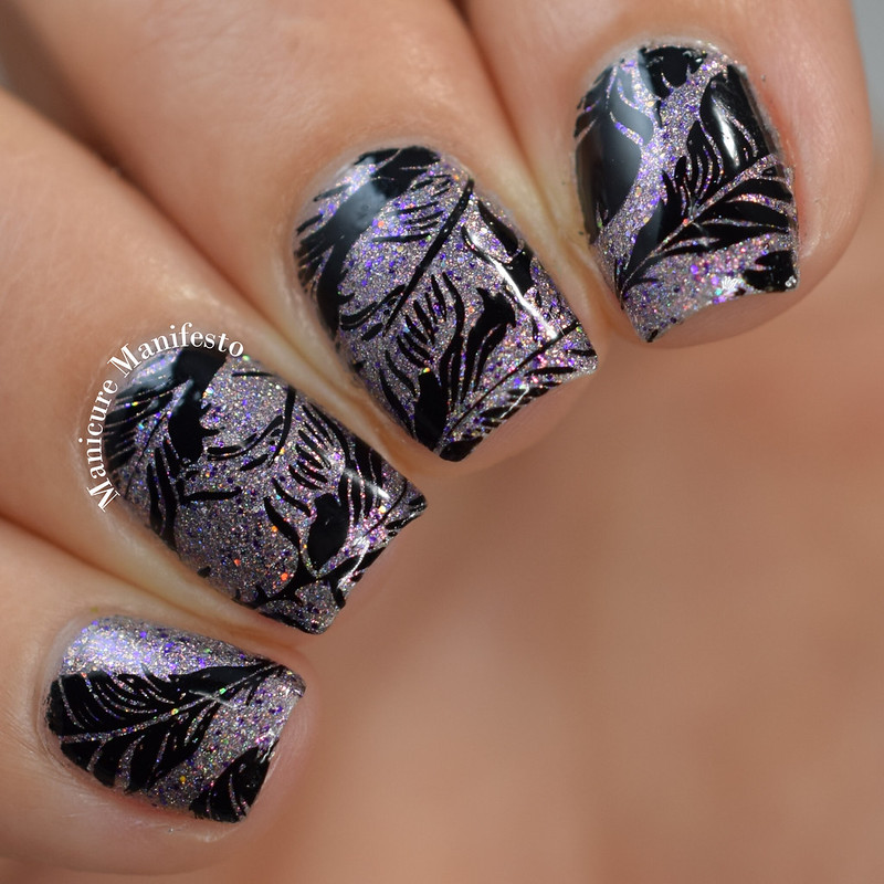 Feather Nail Stamping