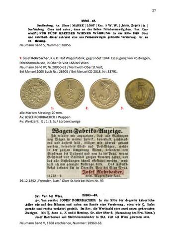 Sammlung von Geldmarken sample page2