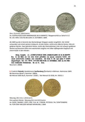 Sammlung von Geldmarken sample page1