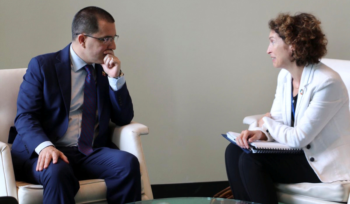 Canciller Arreaza sostiene cordial encuentro con ministra de Asuntos Exteriores de Andorra