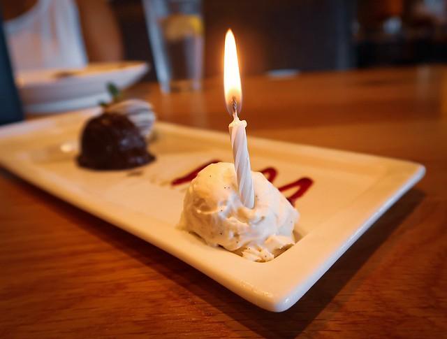 Belgian Chocolate Truffle with Whipped Cream.