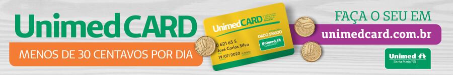 Faça o seu UnimedCARD, menos de 30 centavos por dia!